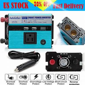500w Car Solar Power Inverter Dc 12v To Ac 110v Sine Wave