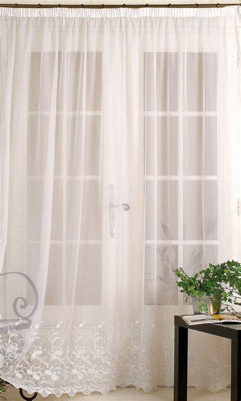 voilage rideau sur mesure voilage en voile avec base brod 233 e blanc homemaison vente en ligne voilages