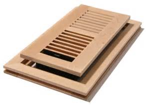 4x10 unstained maple flushmount floor register