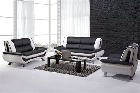black and white leather sofa set home furniture design - Black And White Sofa Set