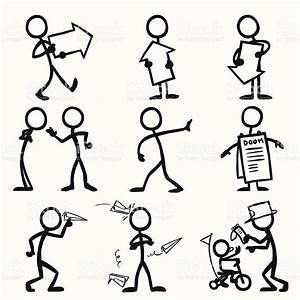 Stickfigures Showing  Emoting And Displaying Messages