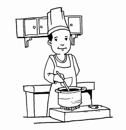 Gambar Koki Mewarnai Untuk Kartun Profesi Pekerjaan