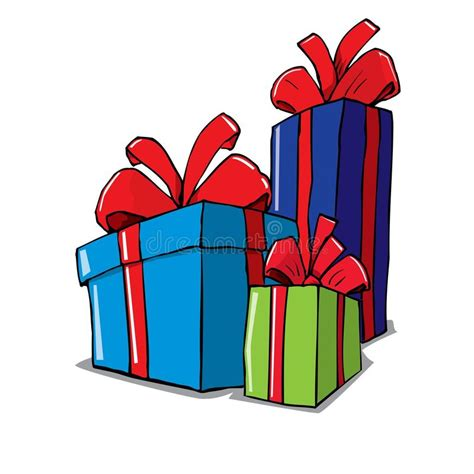 cartoon  group  christmas gifts stock vector