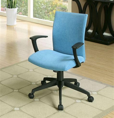 crofter contemporary blue fabric seat office chair