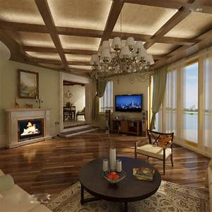 False ceiling design in wooden bill house plans for Wood ceiling designs living room