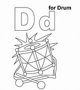 Drums Pages Coloring Momjunction Little sketch template