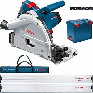 Bosch Gkt 55 Gce 1400w 165mm Plunge Saw Kit With 2x Guide