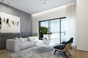 modern ideas for living rooms decoración de interiores modernos en gris y blanco