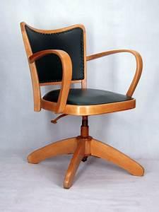 Chaise De Bureau Vintage : chaise a accoudoirs fauteuil bureau tournant 1950 vintage ~ Teatrodelosmanantiales.com Idées de Décoration
