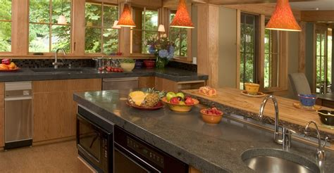 grey stained cabinets kitchen concrete countertops counter photos how to the