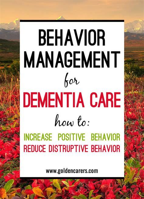 behavior management  dementia care