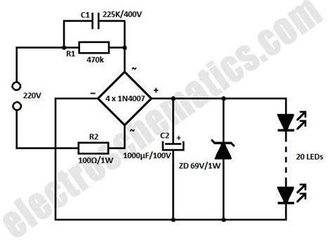 White Led Flood Lamp Circuit Schematic Elektronik