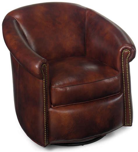 Natuzzi Leather Swivel Tub Chair by Bradington Swivel Tub Chairs Marietta Traditional