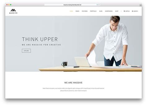 massive creative  page html website template web