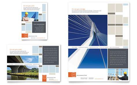 civil engineers flyer ad template design