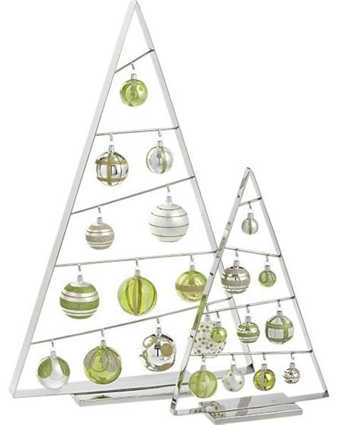 large ornament tree in christmas decorating crate and barrel