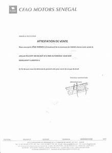 Lettre De Decharge Vente Automobile : d tournement de v hicules d 39 une valeur de 300 millions cfao motors s n gal voici les ~ Gottalentnigeria.com Avis de Voitures