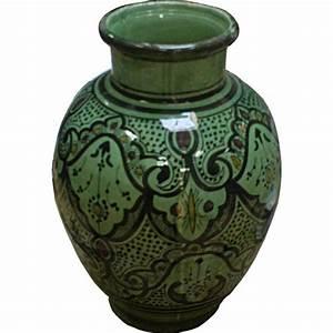 Vase En Céramique : vase marocain vert artisanal en c ramique safi maroc ~ Teatrodelosmanantiales.com Idées de Décoration
