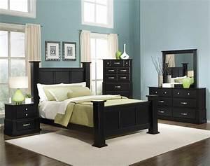 Black Bedroom Furniture Decor Wood