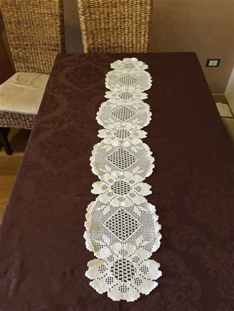 fiori fatti a uncinetto tovaglia filet uncinetto fiori casa fatto a mano crochet