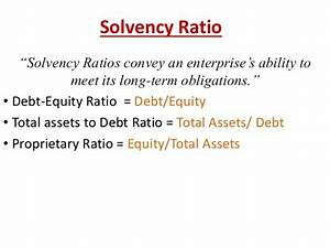 Solvency Ratio (Infosys)