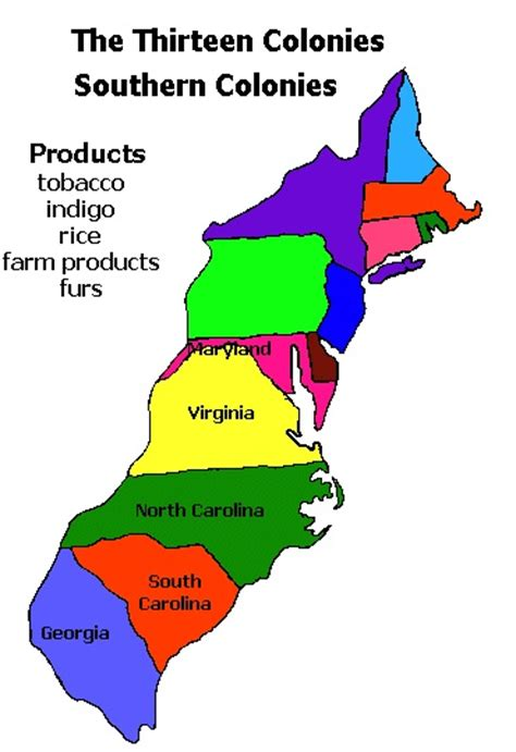 southern colonies states
