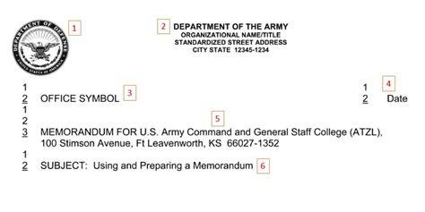 department of the army memorandum for record template army memorandum writing joining the army hq