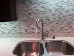 Kitchen Sink With Marble Tile Back Spash
