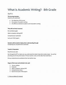 Th Bingen Semesterplan : what is academic writing lesson plan ~ Eleganceandgraceweddings.com Haus und Dekorationen