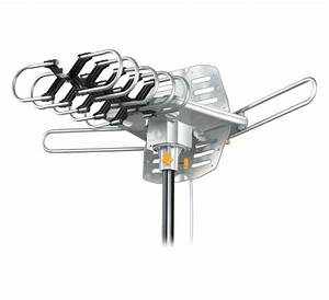 Amplified Hd Digital Outdoor Hdtv Antenna With Motorized