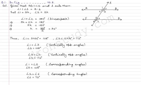 cbse class 7 maths lines and angles worksheets