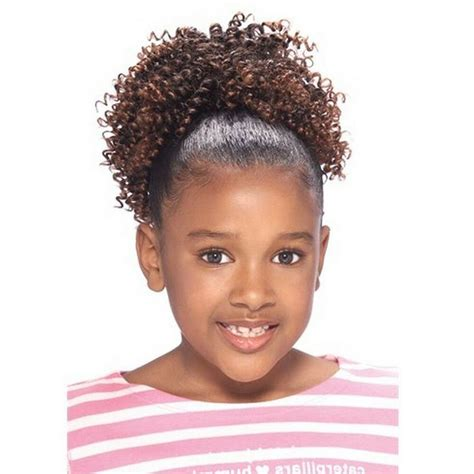 model model glance kids draw string ponytail curly weave