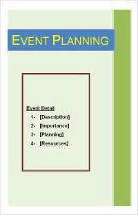 Sample Event Planning Template