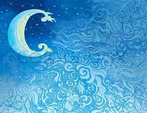 Background with southeast pattern with moon Stock Photo