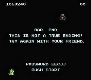 NES Bubble Bobble ending (bad ending) - YouTube