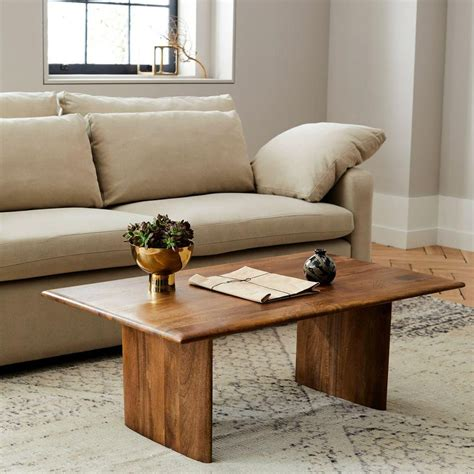 Buy wooden center tables online. Anton Solid Wood Coffee Table - Rectangle   west elm Australia