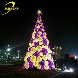 New Year Decor Giant Christmas Artificial Tree Pvc