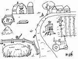 Farmer Coloring Boys раскраска ферма sketch template