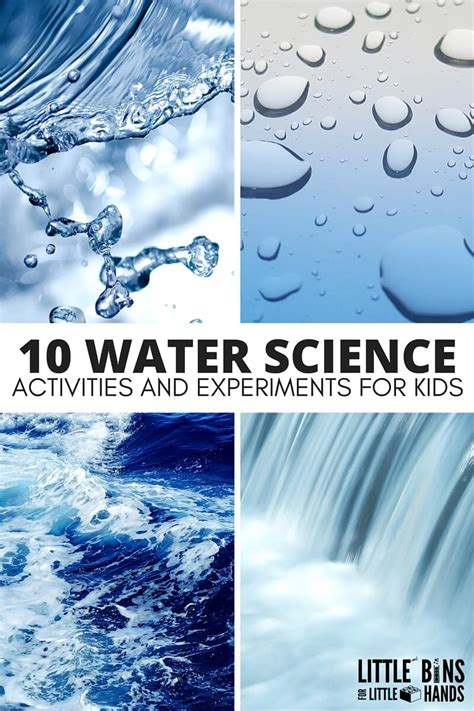 water science activities  kids stem