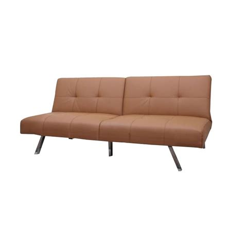 camel faux leather sofa gold sparrow victorville faux leather convertible sofa in