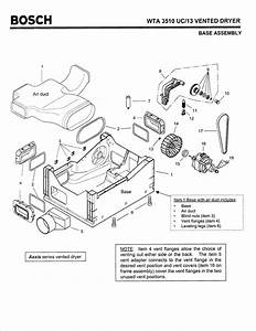Bosch Wta3510 Axxis Dryer  Need To Know How To Disassemble