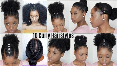 10 quick easy hairstyles for natural curly hair instagram inspired hairstyles youtube