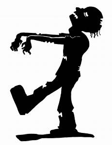 Silhouette clipart zombie - Pencil and in color silhouette ...