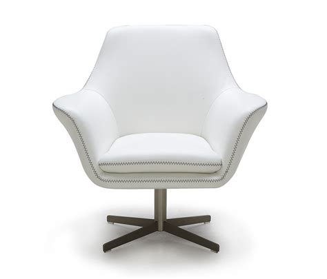 poli grey modern leather swivel lounge chair