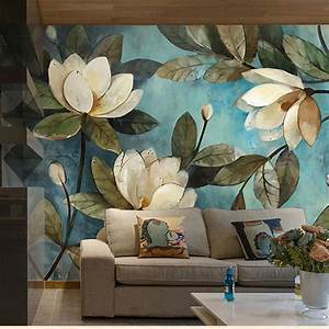3d Magnolia flowers Southeast Asia style oil painting wall ...