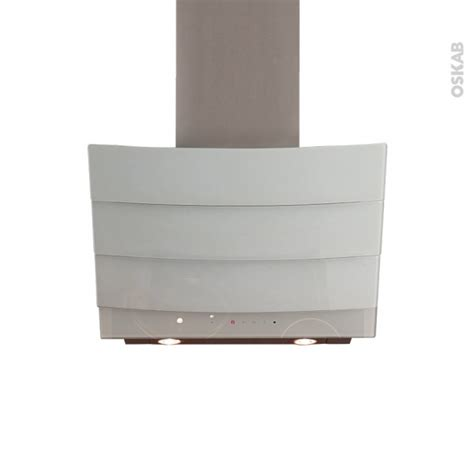 monter une hotte de cuisine hotte de cuisine aspirante inclinée 60 cm verre blanc
