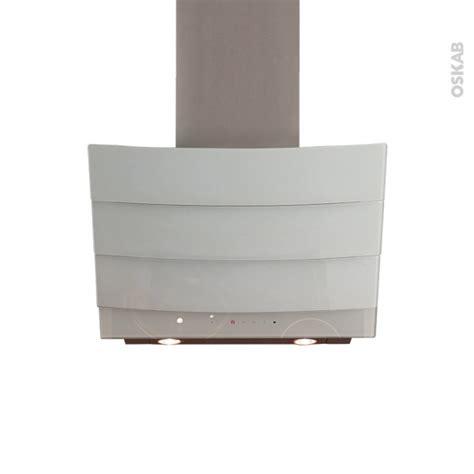 hotte de cuisine aspirante hotte de cuisine aspirante inclinée 60 cm verre blanc