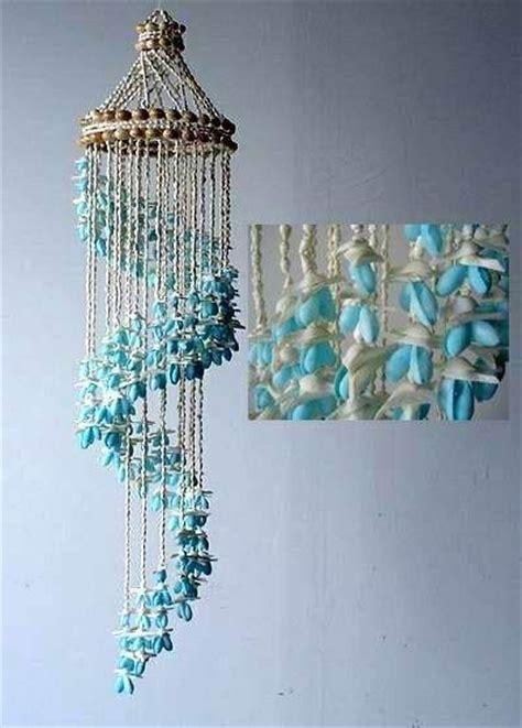 blue bubble seashell spiraling wind chimes seashell wind