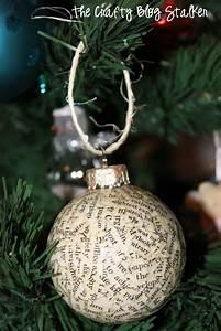 How, To, Make, Handmade, Book, Print, Christmas, Ornaments