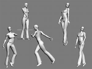 3D-Menschen Model19-Human männlich / weiblich menschlichen ...